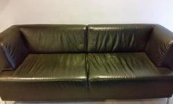 Used leather 3 seater sofa. Aged leather. In working
