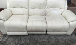 Leather 3 seater sofa available for sale in the middle
