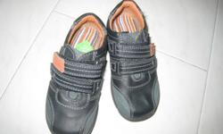 1) Hush Puppies boy's shoes: size 7 1/2, leather, brand