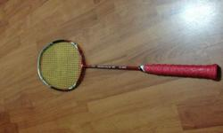 Li-Ning Rocks 530. Condition: 10/10. Strung with Yonex