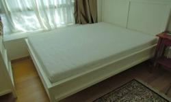 Almost new, rarely used in Guest Room Ikea White Queen