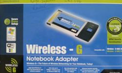 Brand New Linksys WPC54G Wireless-G Notebook Adapter