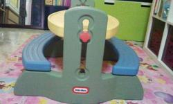 Hi, selling Little Tikes kids table set for S$80.