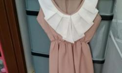 Long Sleeveless Beige Color Blouse Condition: 10/10