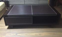 Sturdy & heavy coffee table with drawer & magazine
