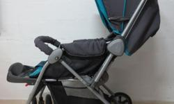 Lucky Baby Pram in blue colour. Very sparingly used and