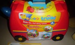 New red fire engine model luggage bag for children use