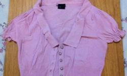 Pretty LVER Pink Sweater at $10 only! Like new :)