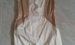 LVER White & Gold Office Dress Size M Bought at close