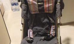 the stroller in good condition ab 7/10. never was