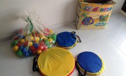 Used Magical Twin Tent with Tunnel & 100 Ball play lot.