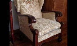 Decluttering Exercise. Authentic regency library chair