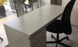 MALM desk - white finish (new price S$ 245): Size: 140