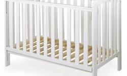 Selling a white Mama Love cot in good condition. Cot is