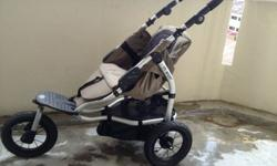 This is a 3-wheeler sporty & rugged push chair with