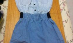 Trendy MANGO Denim Dress at $10 only! Like new :)