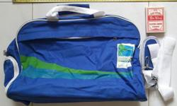 (BN) Brand new Standard Chartered blue gym bag, with