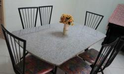 MARBLE TABLES WITH SIX CHAIRS FOR S$228.00 ONLY Dining