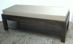 As is cash & carry recycled teak wood massage bed.