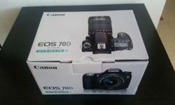 Unopened box Canon 70D for sale + EF 18-135mm STM kit