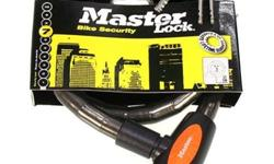 Masterlock Key Cable Lock 18mm Diameter S$29 (For