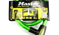 Masterlock Key Cable Bicycle Lock 18mm - Green S$29
