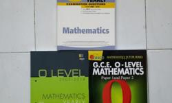 *Mathematics O level yearly examination questions years