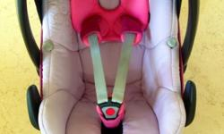 I'm selling a pink colored maxi cosi pebble car seat .