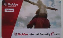 Item code BY1-3 ~McAfee Internet Security e Card - 3