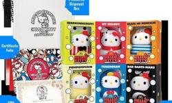 The set includes : - six individually boxed Hello Kitty