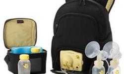 Medela dual electric breast pump with black back pack