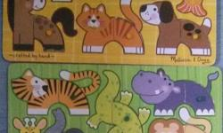 Preloved Melissa & Doug Wooden Puzzles - $7/set - high