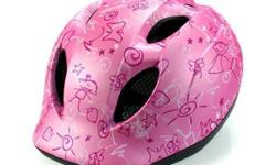 MET Super Buddy Pink Drawings Kids Helmet S$45 (For