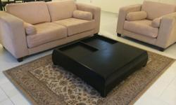 3+1 sofa. Good condition Carpet 230 by 169 Sofa 117 by
