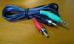 For sale: Miniplug to RCA (2m long) Price: $1