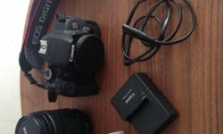 Canon 650d with 40 mm lens and EFS18-135mm. Mint