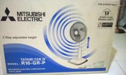 Mitsubishi 3 step adjustable tatami fan 16 inches For