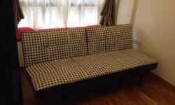 Barely used sofa bed in guest bedroom. Very good