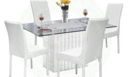 Montana 1+4 Seater Glass Top Dining Set Model No :