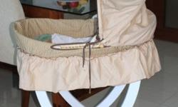 Used for less than 1 month a Moses basket bought from