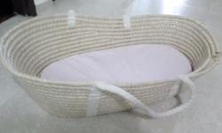 Preloved moses basket. Large size. Comes with soft