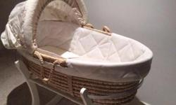 Mothercare Moses Basket with rocking stand New Fitted