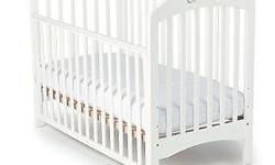 White Baby Cot (from mothercare) with mattress n pink