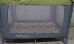 Mothercare Classic Travel Cot -  Green with Grey Color