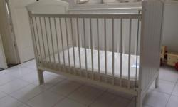 1. Mothercare baby cot with mattress and mattress