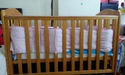 Mothercare takeley cot for sale. Comes with mattress.