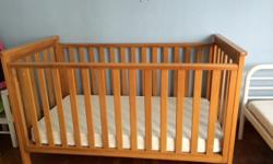 baby cot, comes with mattress. can be converted to
