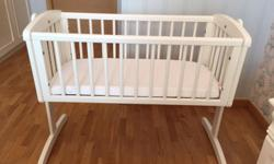 Mothercare Wooden Baby Crib and Bumble Bee Latex