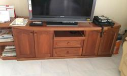 Moving out of Singapore Solid wood TV console for sale