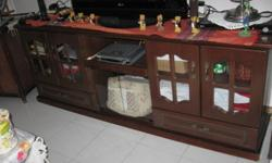 Pre-loved TV consoles in good condition 6/10, walnut
